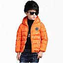 preiswerte Jacken & Mäntel für Jungen-Jungen Daunen & Baumwoll gefüttert / Anzug & Blazer-Lässig/Alltäglich einfarbig Polyester Winter / Frühling / HerbstSchwarz / Orange /