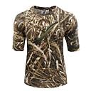 billige T-skjorter og trøyer-T-skjorte med kamuflasjemønster til jaktbruk Unisex Anti-Statisk Pustende Begrenser bakterier Kamuflasje T-Trøye Topper Kortermet til