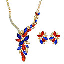 cheap Earrings-Women's Jewelry Set - Flower Fashion Include White / Red For Wedding Party Casual / Earrings / Necklace / Alloy