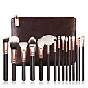 preiswerte Make-up-Pinsel-Sets-15pcs Makeup Bürsten Professional Bürsten-Satz- / Rouge Pinsel / Lidschatten Pinsel Nylon Pinsel / Künstliches Haar Tragbar / / Holz