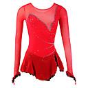 זול שמלות להחלקה על הקרח-שמלה להחלקה אמנותית בגדי ריקוד נשים / בנות החלקה על הקרח שמלות אדום ספנדקס ריינסטון גמישות גבוהה הצגה ביגוד להחלקה על הקרח עבודת יד אור