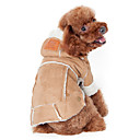 cheap Dog Clothes-Dog Coat Hoodie Dog Clothes Solid Colored Coffee Wine Dark Brown Cotton Costume For Pets Men's Women's Keep Warm Fashion