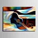 tanie Obrazy: motyw ludzi-Hang-Malowane obraz olejny Ręcznie malowane - Abstrakcja Nowoczesny / Fason europejski Płótno