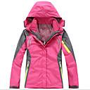 お買い得  ソフトシェル、フリース、ハイキングジャケット-女性用 3-in-1 ジャケット アウトドア 冬 保温, 速乾性, 防風 ソフトシェルジャケット / トップス キャンピング&ハイキング / 抗紫外線