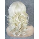 billige Fusionerede hårforlængelser-Syntetisk Lace Front Parykker Krøllet Blond Syntetisk hår Blond Paryk Dame Blonde Front