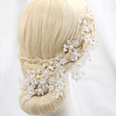 cheap Party Headpieces-Crystal Imitation Pearl Alloy Flowers 1 Wedding Special Occasion Outdoor Headpiece