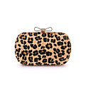 cheap Clutches & Evening Bags-Women's Bags Other Leather Type / Suede Evening Bag Fur Leopard / Light Green / Light gray