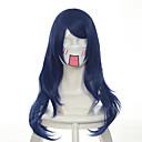 billige PS4-tilbehør-Syntetiske parykker / Kostymeparykker Rett Syntetisk hår Parykk Dame Lokkløs Blå