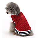 cheap Dog Clothes-Cat Dog Sweater Christmas Dog Clothes Color Block Red Blue Cotton Costume For Pets Men's Women's Casual/Daily Keep Warm