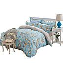 preiswerte Geometrische Duvet Covers-Bettbezug-Sets Blumen 4 Stück Polyester Reaktivdruck Polyester 4-teilig (1 Bettbezug, 1 Bettlaken, 2 Kissenbezüge)
