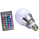 cheap LED Bi-pin Lights-1pc 5 W 300 lm E14 / GU10 / B22 LED Smart Bulbs A60(A19) 1 LED Beads Integrate LED Dimmable / Remote-Controlled / Decorative RGB 85-265 V / 1 pc / RoHS