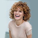 cheap Synthetic Wigs-Synthetic Wig Curly / Afro Synthetic Hair Blonde Wig Women's Short