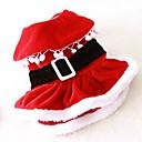 voordelige Pet Christmas Costumes-Kat Hond kostuums Jurken Hondenkleding Effen Rood Fleece Kostuum Voor huisdieren Heren Dames Schattig Cosplay Kerstmis