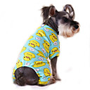cheap Nail Stamping-Cat Dog Jumpsuit Pajamas Dog Clothes Cartoon Yellow Red Blue Pink Blue-Yellow Cotton Costume For Pets Men's Women's Cute Casual/Daily