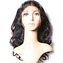 abordables Cierre y Frontal-Msbeauty 360 frontal Ondulado Grande Parte gratuito Malla suiza Cabello humano Con Baby Hair / Suave Diario