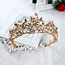 cheap Party Headpieces-Imitation Pearl Rhinestone Alloy Tiaras Headwear with Floral 1pc Wedding Special Occasion Casual Headpiece