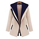 cheap Car Pendants & Ornaments-Women's Daily Fall / Winter Regular Jacket, Color Block Hooded Long Sleeve Rayon / Polyester Black / Beige M / L / XL