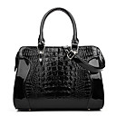 cheap Totes-Women's Bags PU(Polyurethane) Tote Embossed Crocodile White / Black / Red