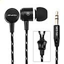 baratos Pen Drive USB-AWEI Q35 No ouvido Com Fio Fones Aluminum Alloy Esporte e Fitness Fone de ouvido Com Microfone Fone de ouvido
