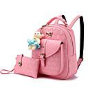 povoljno Školske torbe-Žene Torbe PU Bag Setovi 2 kom S volanima Dark Blue / Pink / Lila-roza