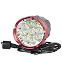 abordables Bombillas LED-20000mah 18000lm 9x XM-L LED L2 ciclismo frontal de cabeza de lámpara de la bici bicicleta luz de la antorcha