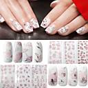 baratos Extratores-4 pcs Autocolantes de Unhas 3D arte de unha Manicure e pedicure Fashion Diário / Etiquetas de unhas 3D
