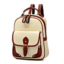 cheap Backpacks-Women's Bags Polyester / PU School Bag for Outdoor Beige / Brown / Khaki