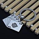 hesapli Oto Süsleri-iyi şanslar poker floş Anahtarlık Metal yaratıcı araç erkekler kilit aksesuarları