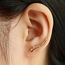 abordables Joyería de Mujer-Mujer Pendientes cortos Puños del oído Alpinistas - Forma de Hoja damas, Moda, Elegante Joyas Plata / Dorado Para Diario Casual