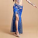 baratos Acessórios de Dança-Dança do Ventre Tutos e Saias Mulheres Espetáculo Poliéster / Elastano Fru-Fru Natural Saia