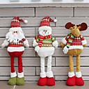 halpa Joulukoristeet-santa claus lumiukko joulu nuket joulukoristeet kotiin retractable seisoo lelu syntymäpäivä juhla lahja kids natal