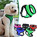 cheap Dog Collars, Harnesses & Leashes-Dog Harness Adjustable / Retractable / Breathable Solid Colored Mesh / Nylon Red / Green / Blue