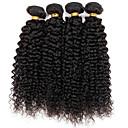 billige Strømpebånd til bryllup-3 pakker Brasiliansk hår Kinky Curly Ekte hår Menneskehår Vevet 8-30 tommers Hårvever med menneskehår Hairextensions med menneskehår / Kinky Krøllet