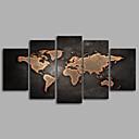 baratos Impressões-Estampado Mapas Modern 5 Painéis