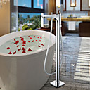 preiswerte Badewannen Armaturen-Badewannenarmaturen - Moderne Chrom bodenmontiert Keramisches Ventil