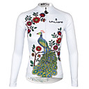 cheap Abstract Paintings-ILPALADINO Women's Long Sleeve Cycling Jersey - White Bike Jersey, Quick Dry, Ultraviolet Resistant, Breathable