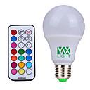 abordables Bombillas LED-YWXLIGHT® 500lm E26 / E27 Bombillas LED de Globo 12 Cuentas LED SMD Regulable Decorativa Control Remoto Blanco Natural RGB 85-265V