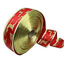 رخيصةأون شرائط الأعراس-1PC 5CM عيد الميلاد الشريط الزخرفي الإمدادات عيد الميلاد واسعة أحمر الذهب بنوم بنه شجرة عيد الميلاد الغزلان الشريط