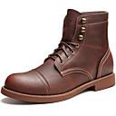זול נעלי אוקספורד לנשים-בגדי ריקוד גברים Fashion Boots עור נאפה Leather סתיו / חורף מגפיים מגפונים\מגף קרסול קפה