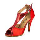 ieftine Pantofi Dans Latin-Pentru femei Pantofi Dans Latin / Pantofi Jazz / Pantofi Dans Piele Adidași Toc Îndesat Personalizabili Pantofi de dans Mov / Rosu /