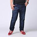 رخيصةأون زينة الكريسماس-بنطلون سادة جينزات قطن قياس كبير للرجال