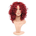 cheap Hair Pieces-Synthetic Wig Curly / Kinky Curly Bob Haircut Synthetic Hair Fashion / African American Wig / For Black Women Red Wig Women's Medium Length Capless