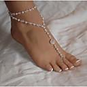 billige Ankelkjede-Lag-på-lag Ankel - Perle, Imitert Perle Dainty, Europeisk, Multi Layer Hvit Til Daglig Avslappet Dame