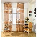 baratos Cortinas Transparentes-Anéis Um Painel Tratamento janela Europeu Neoclassicismo Flor Sala de Estar PVC Material Sheer Curtains Shades Decoração para casa