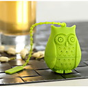 cheap Coffee and Tea-Silicone Creative Kitchen Gadget / Tea Owl 1pc Filter / Tea Strainer / Daily