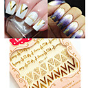 cheap Rings-1sheet 3d nail art stickers gold v shape heartbeat nail decals tips decoration