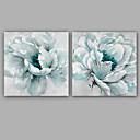 billige Stillebenmalerier-Hang malte oljemaleri Håndmalte - Blomstret / Botanisk Klassisk Moderne Inkluder indre ramme / Stretched Canvas