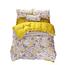 cheap Curtains Drapes-Duvet Cover Sets Leaf Polyester Reactive Print 4 Piece