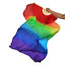 baratos Acessórios de Dança-Dança do Ventre Acesssórios de Palco Mulheres Espetáculo Seda Franzido Vara