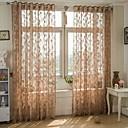 preiswerte Gardinen-Gardinen Shades Wohnzimmer Blatt Poly /  Baumwollmischung Jacquard